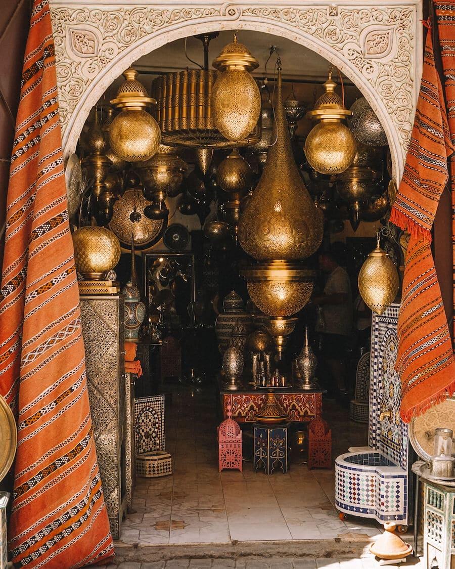 Shopping in the Marrakech medina