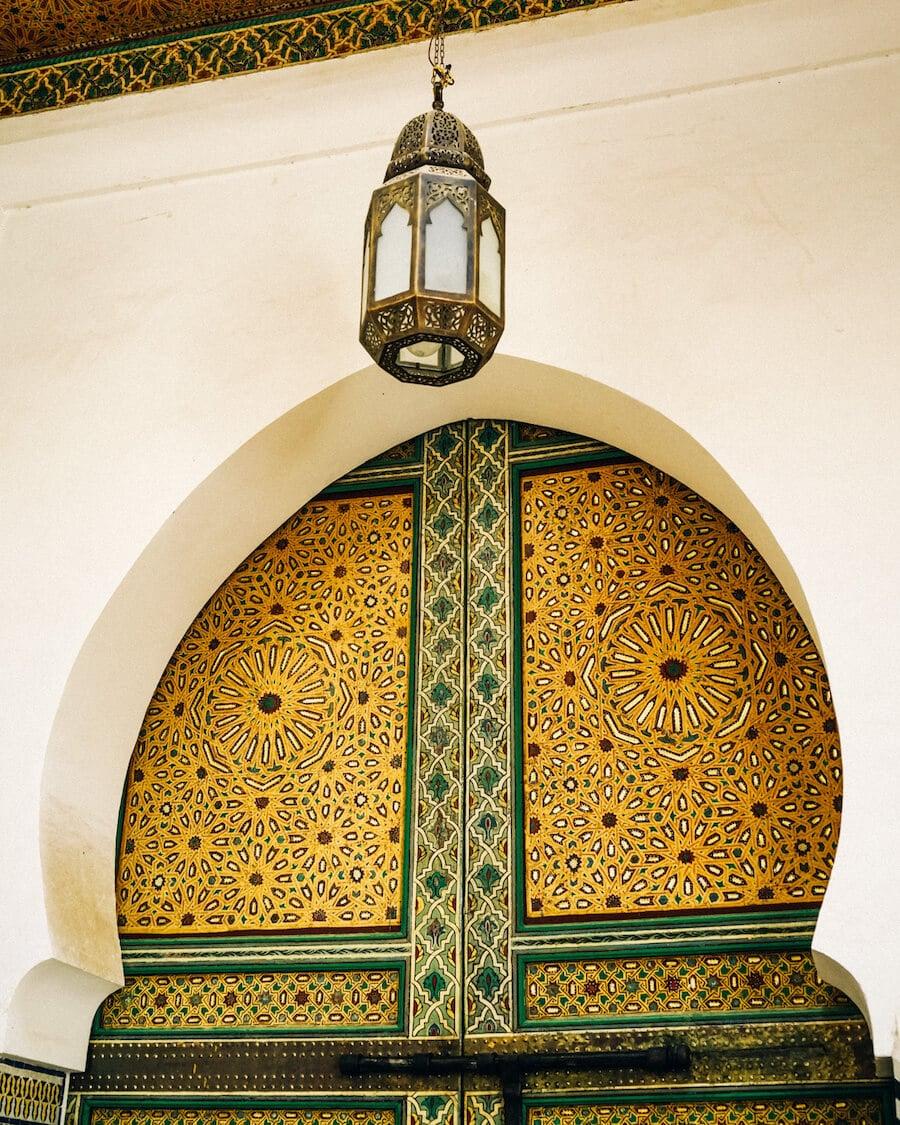 Tile doorway in Fez, Morocco