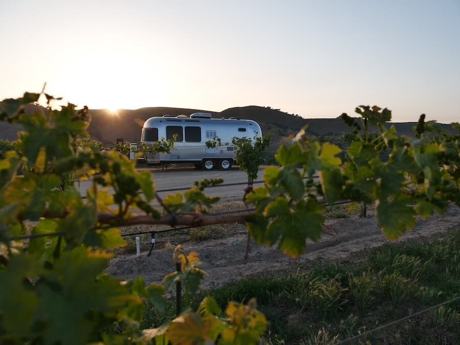 Airstream glamping in California wine country