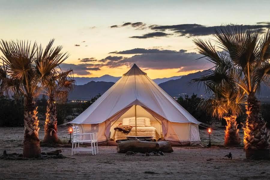 Large tent in Joshua Tree, California