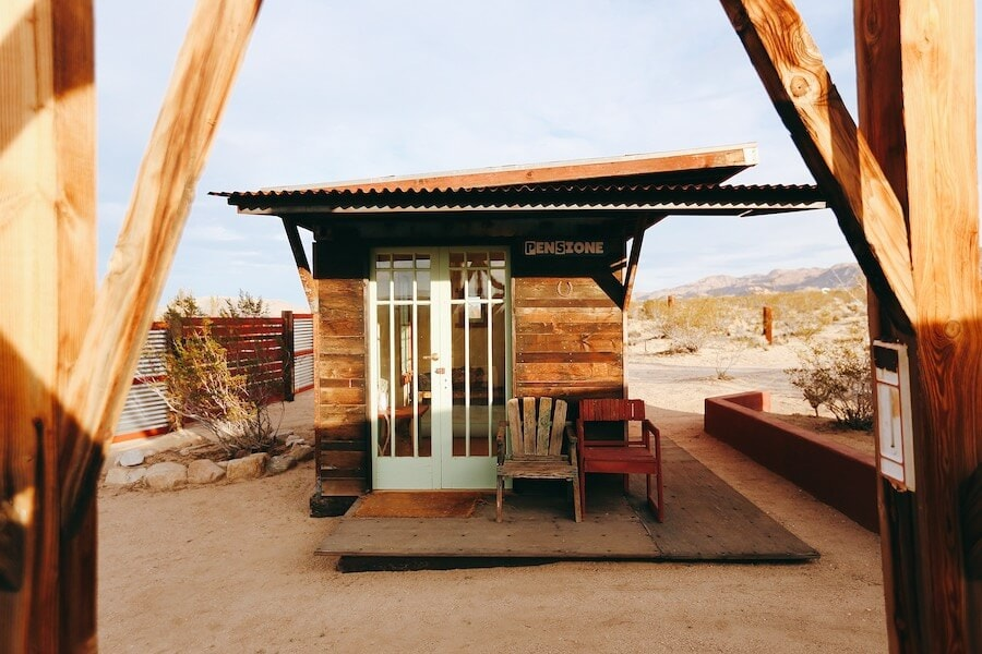 Tiny cabin in Joshua Tree, California