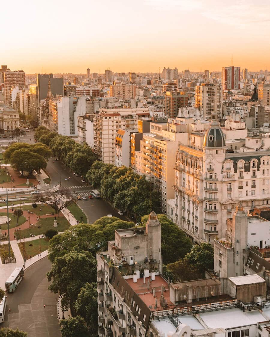 Sunset overlooking Buenos Aires