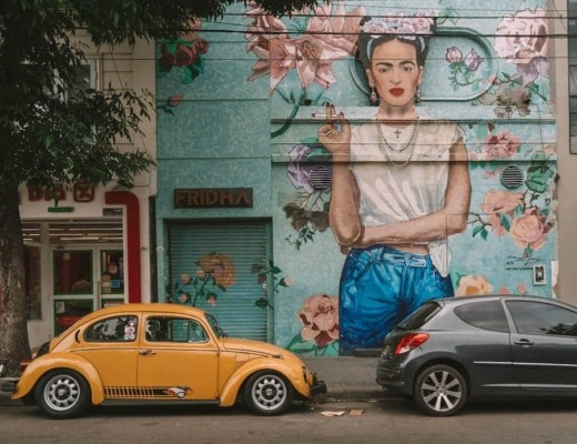 Frida Kahlo mural in Buenos Aires