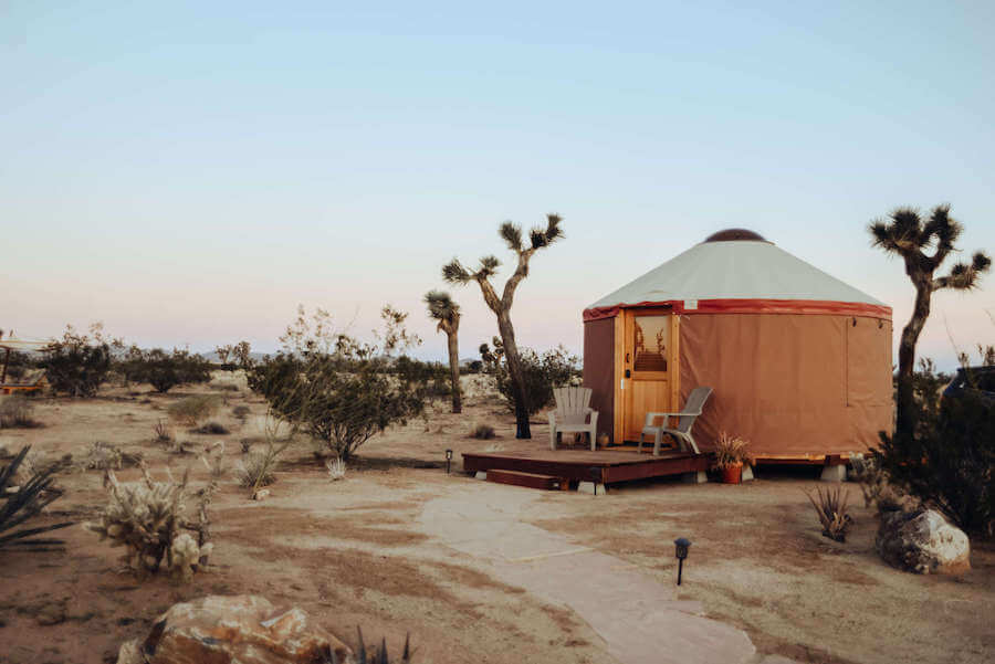 Luna Vista Ranch yurt glamping