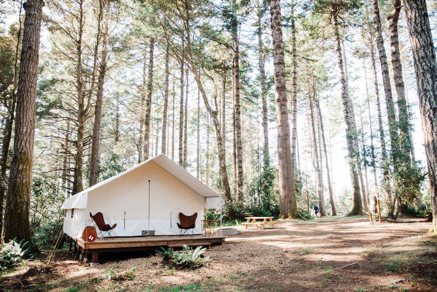 Mendocino Grove glamping site