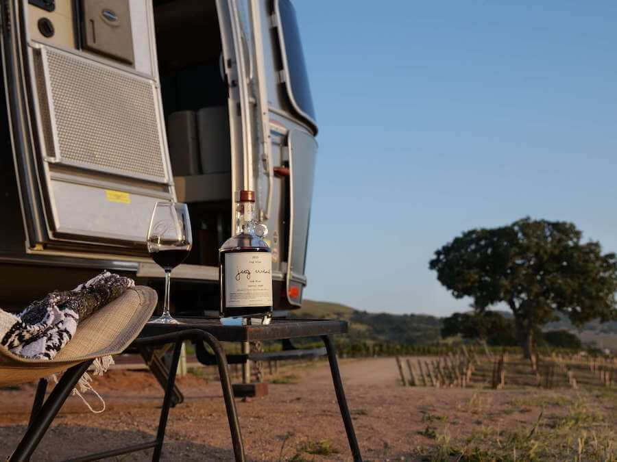 Wine country glamping in an airstream