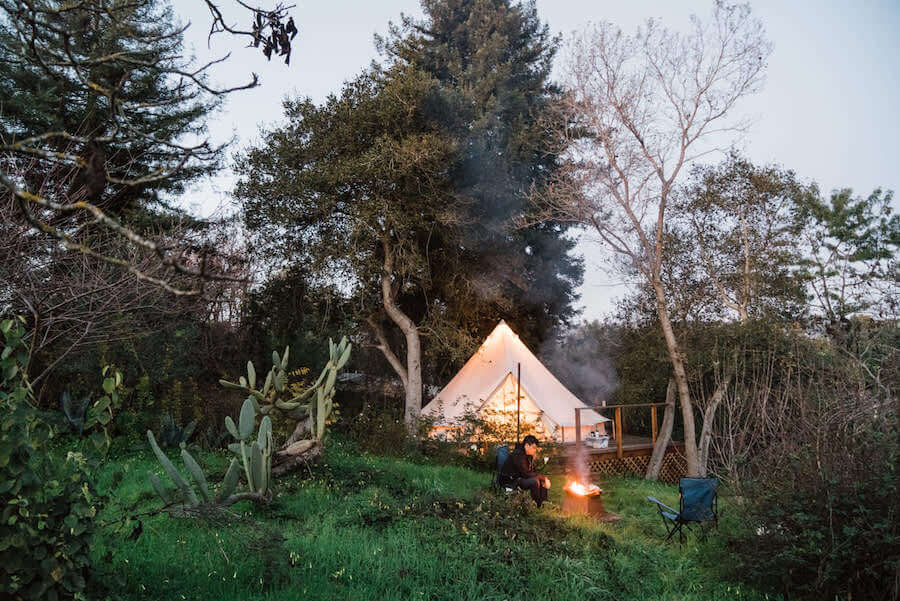 Beautiful campsites in California