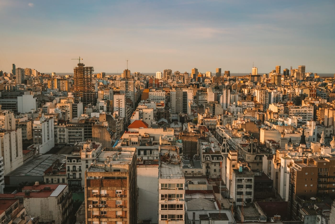 City skyline of Buenos Aires with urban buildings