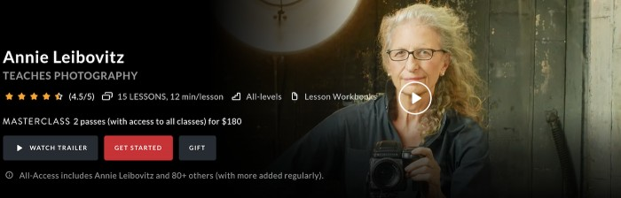 Annie Leibovitz holding a camera