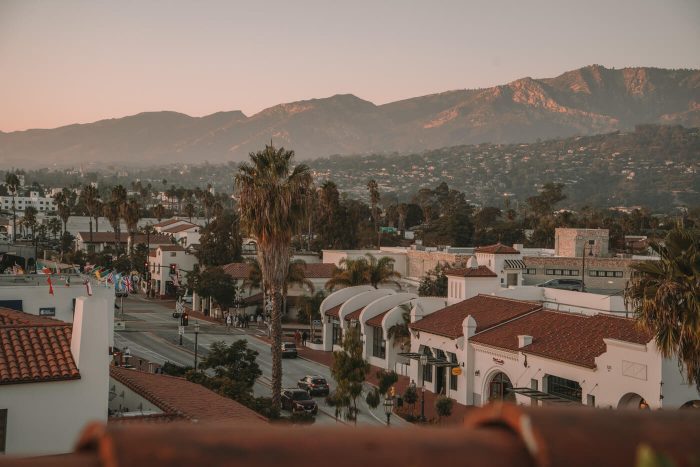 Looking out over Santa Barbara's downtown