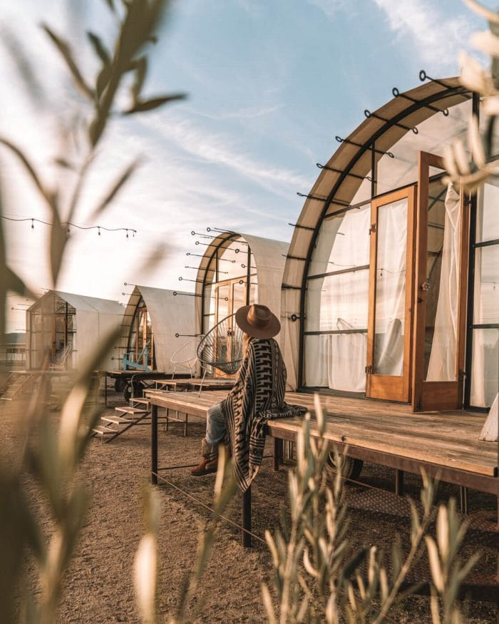 Glamping at Blue Sky Center in California