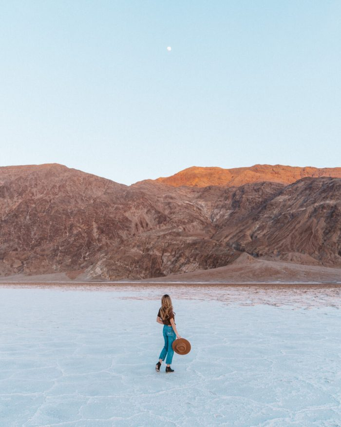 Michelle Halpern of Live Like it's the Weekend at Badwater Basin in Death Valley