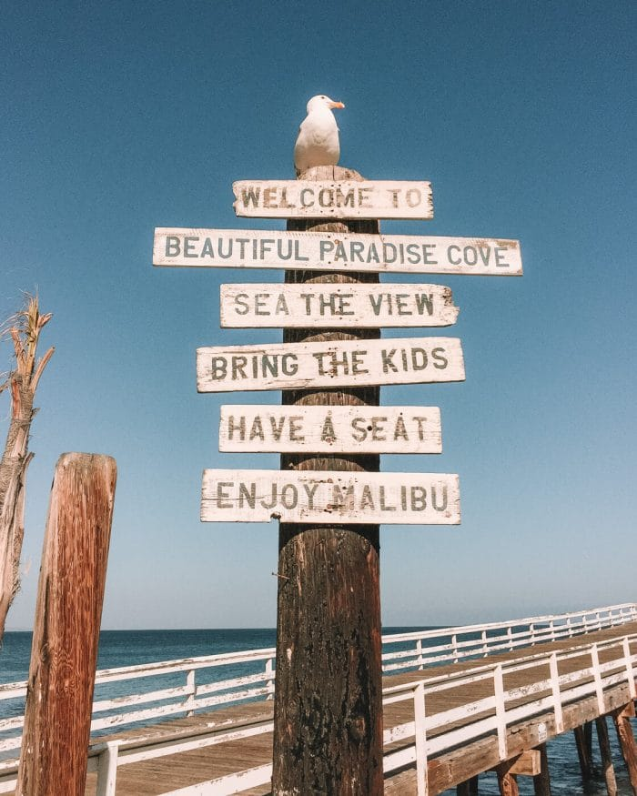 Sign at Paradise Cove