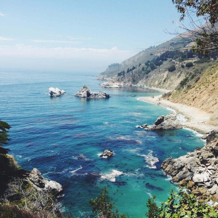 Rocky coastline of Big Sur, California