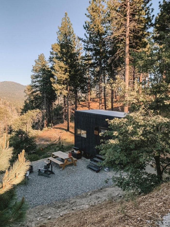 View overlooking the Getaway cabins in Big Bear