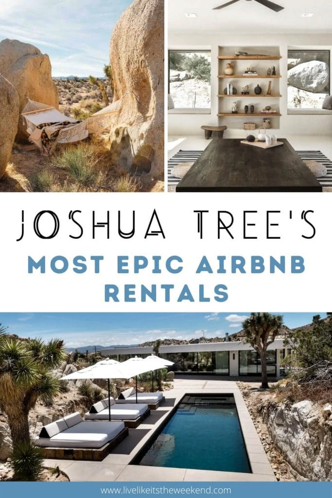 Pinterest image of the most epic airbnbs in Joshua Tree