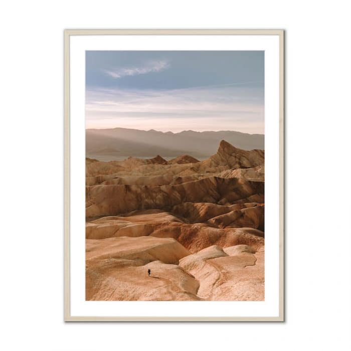 Fine art travel photography print of Zabriskie Point in Death Valley National Park