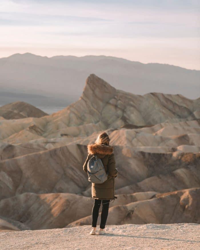 Michelle Halpern at Zabriskie Point in Death Valley