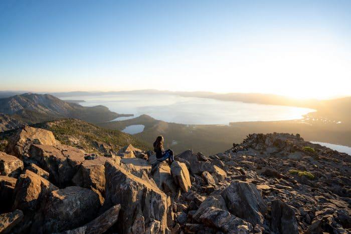 Views over Lake Tahoe in Fall