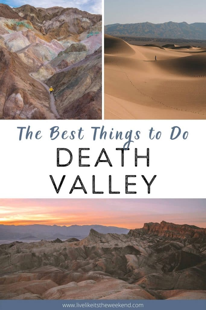 Collage of thing top sites in Death Valley