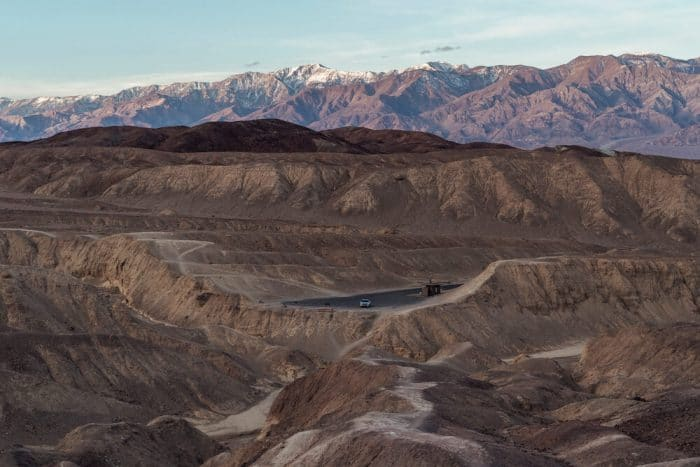View from inside Artist's palette in death valley