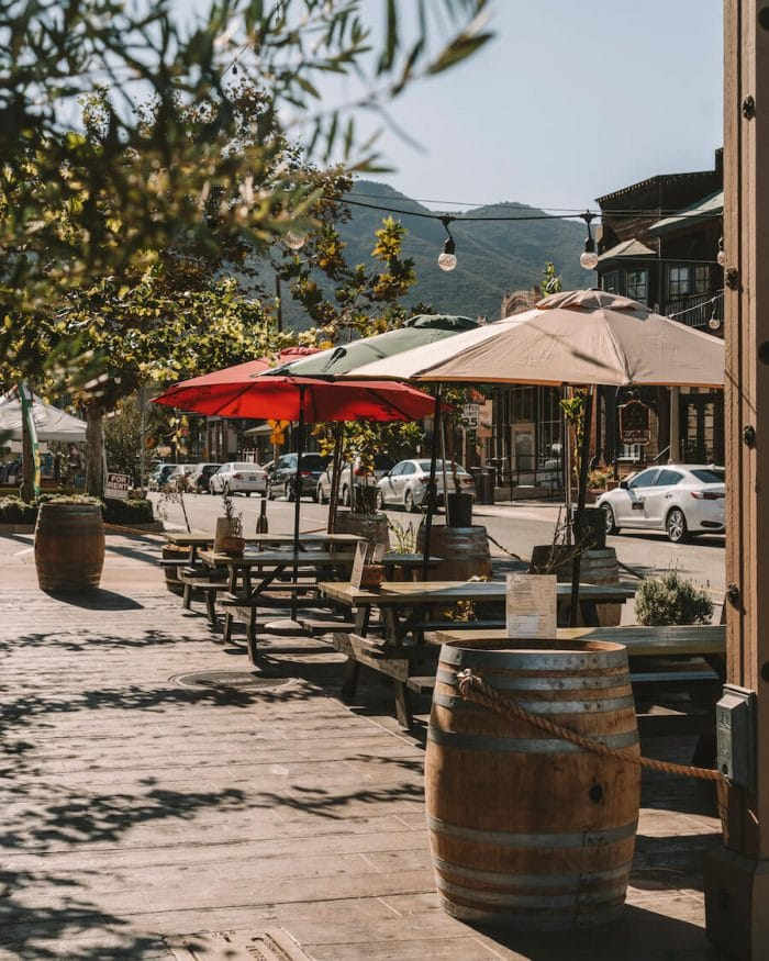 Downtown Temecula, one of the best wine regions in California