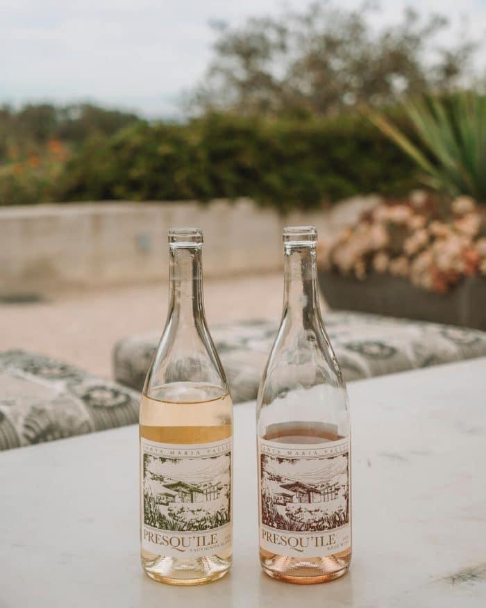Wine bottles at Presqu'ile Winery