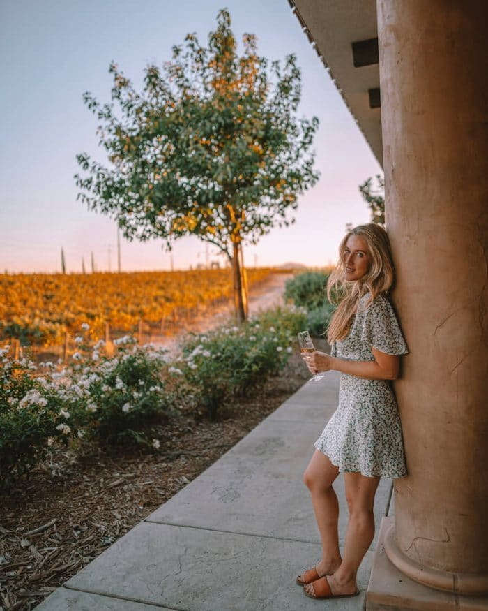 Sunset at the Carter Estate Tasting room in Temecula Valley, one of the best wine regions in California