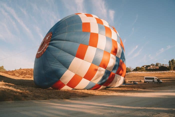 Magical Adventure Balloons setting up in Temecula