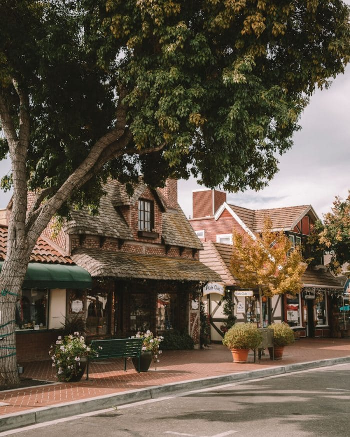 Dutch inspired storefronts in Solvang