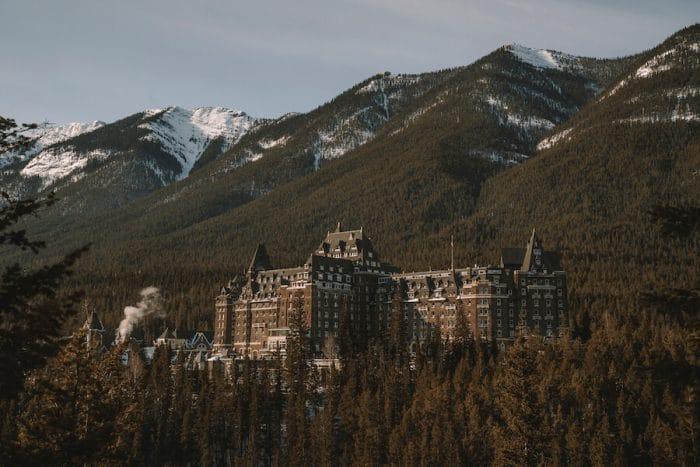 Fairmont Banff Springs in winter