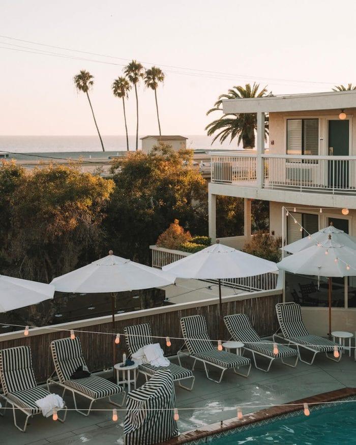 Pool deck at the Laguna Beach House
