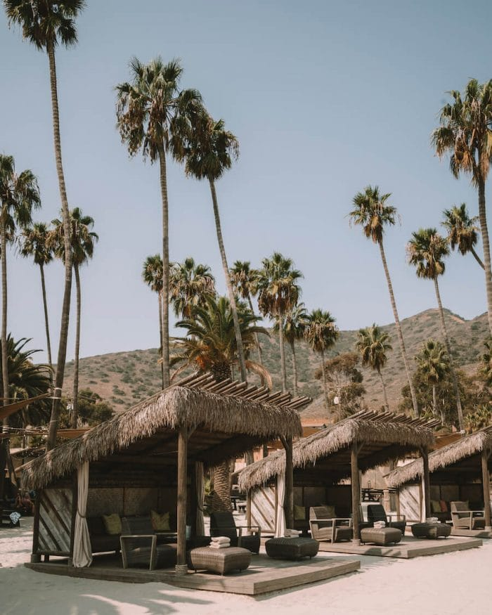 Beach shacks in Two Harbors, Catalina
