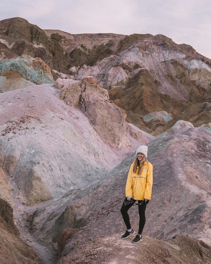 Sunrise at Artist's Palette in Death Valley