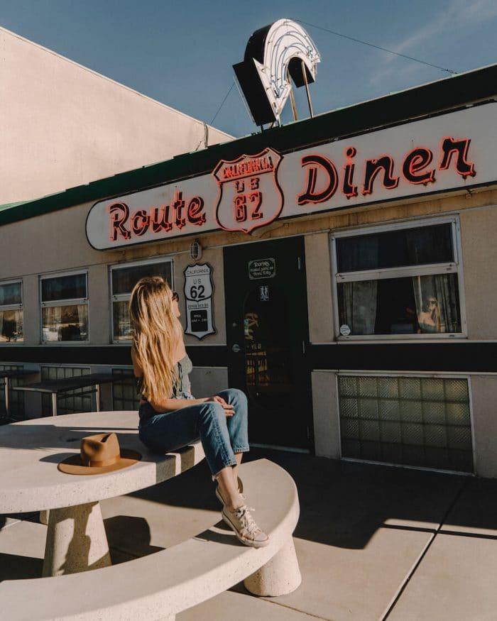 Route 62 Diner in Joshua Tree, California