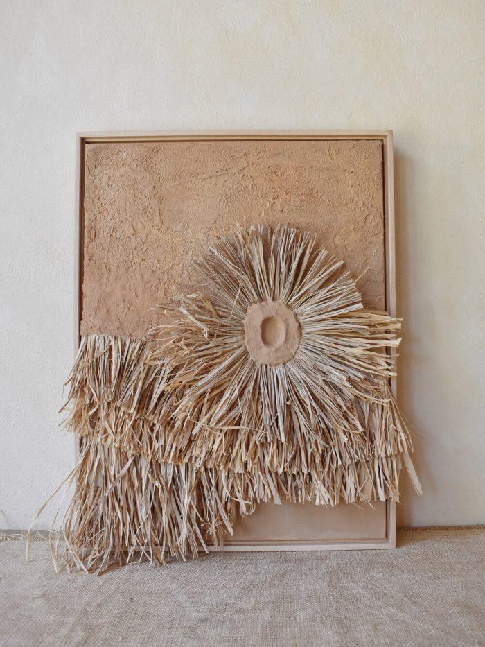 Elan Byrd raffia artwork