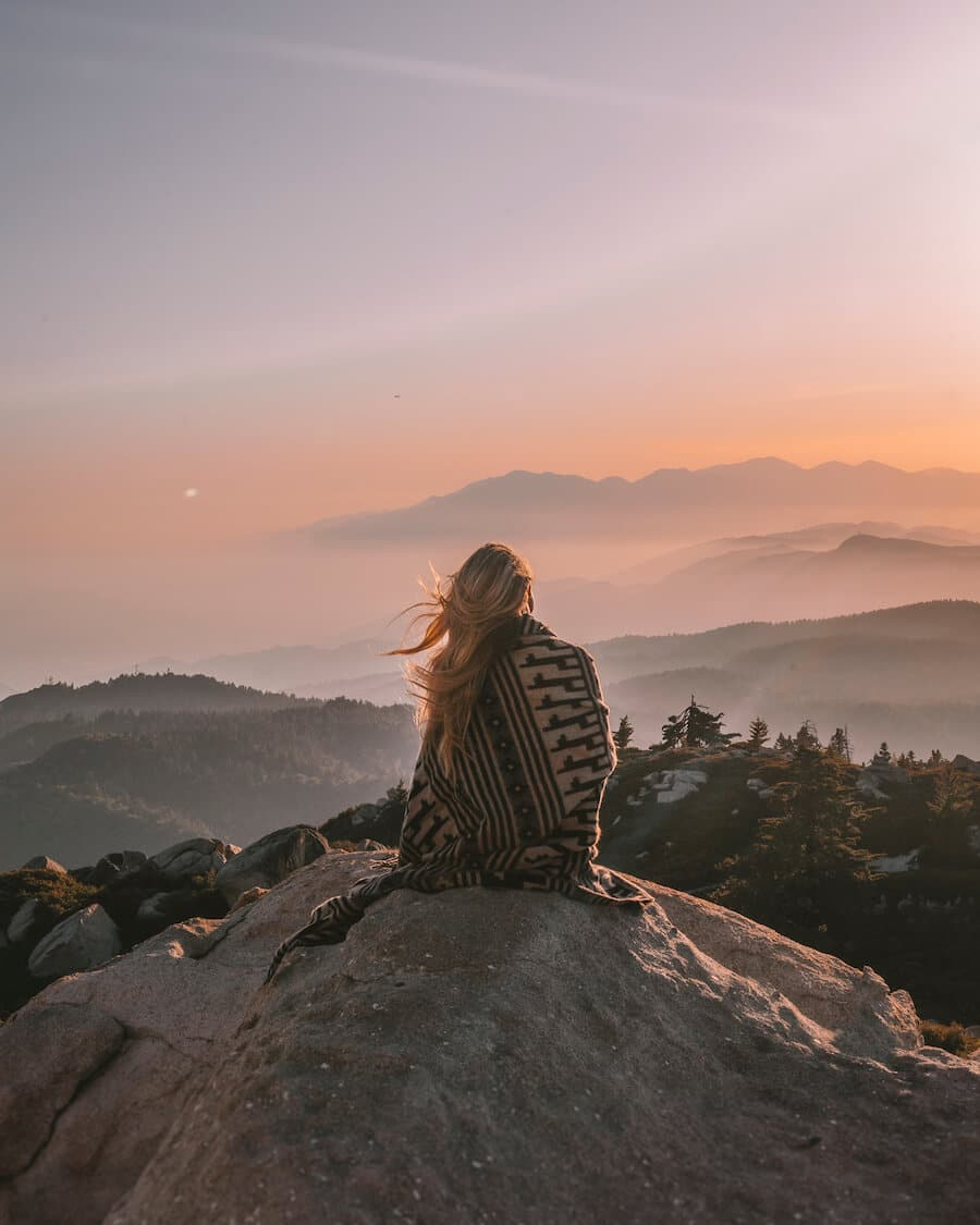 Keller Peak at sunset in California
