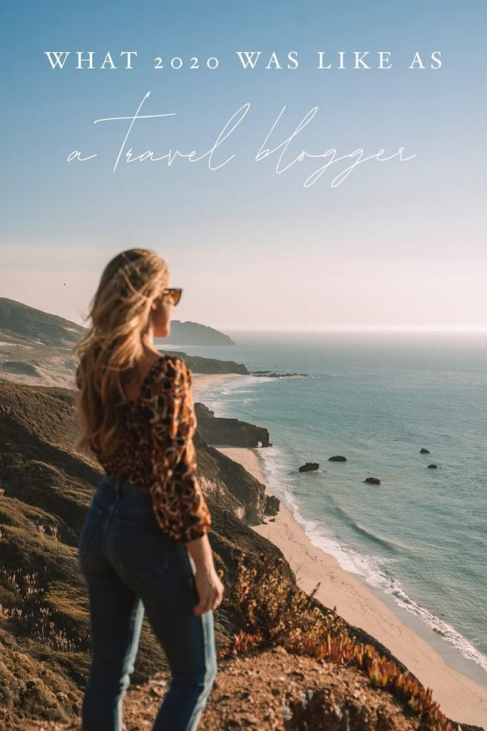Pinterest cover for blog post - girl looking out over Big Sur coast