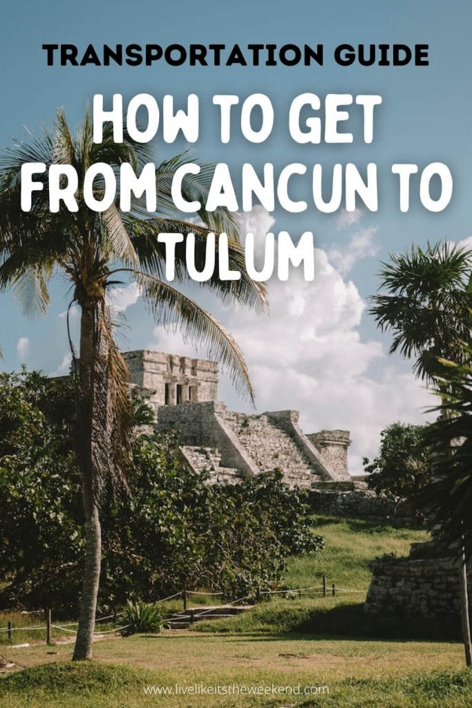 Cancun to Tulum transport guide pin cover