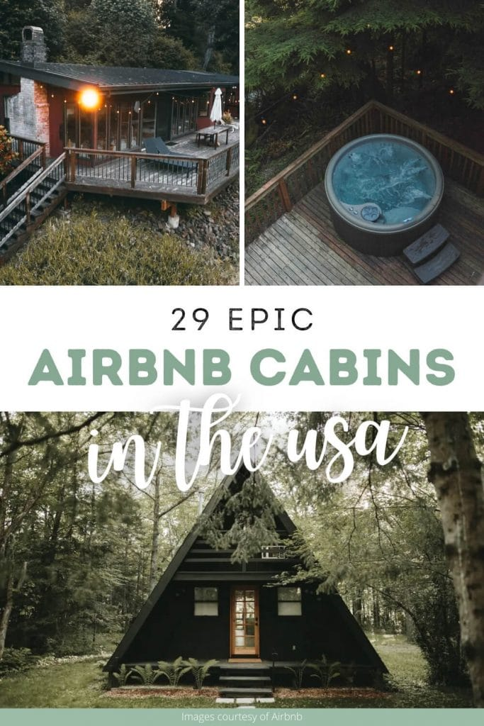 The most epic cabin Airbnbs pin cover