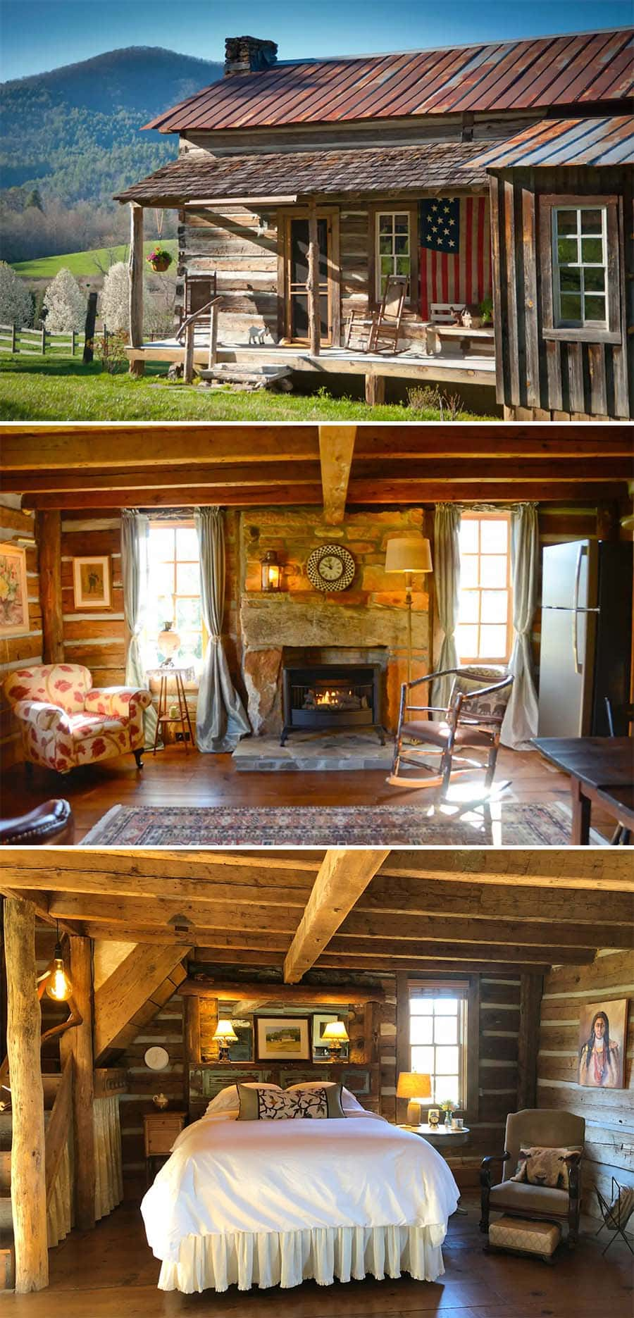 Authentic 1880s log cabin airbnb