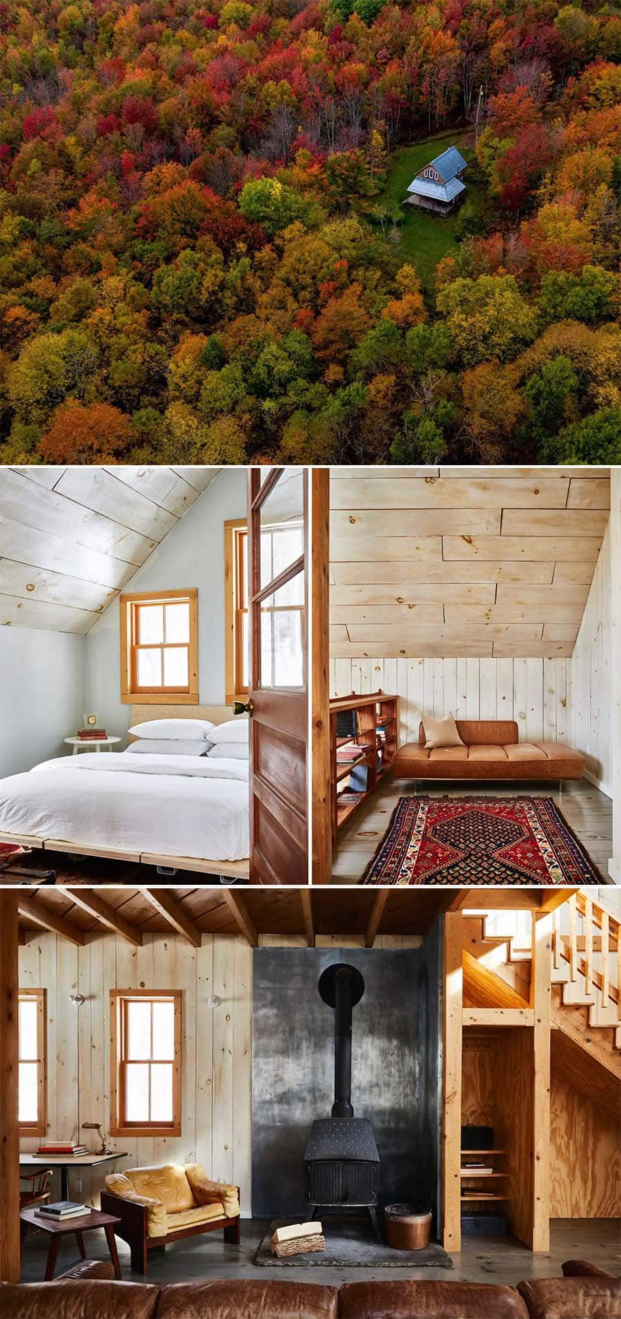 Brushland's Owls Nest cabin Airbnb in the woods in Bovina Center, New York