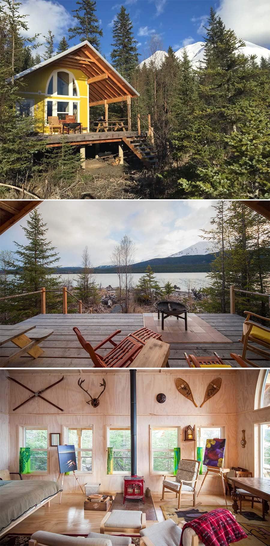 Cozy log cabin Airbnb in Seward, Alaska