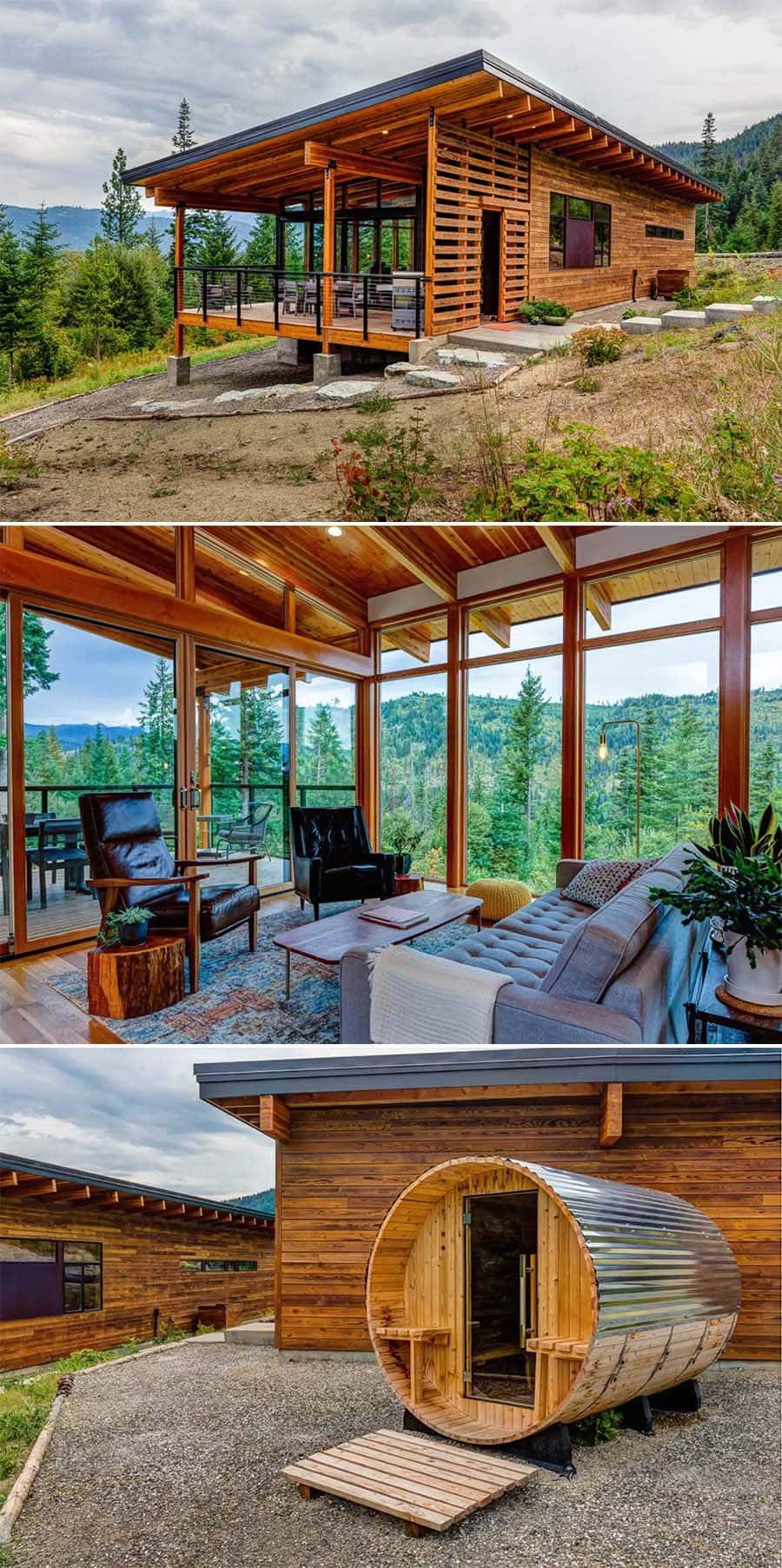 Camp Howard, Leavenworth, Washington luxurious cabin Airbnb