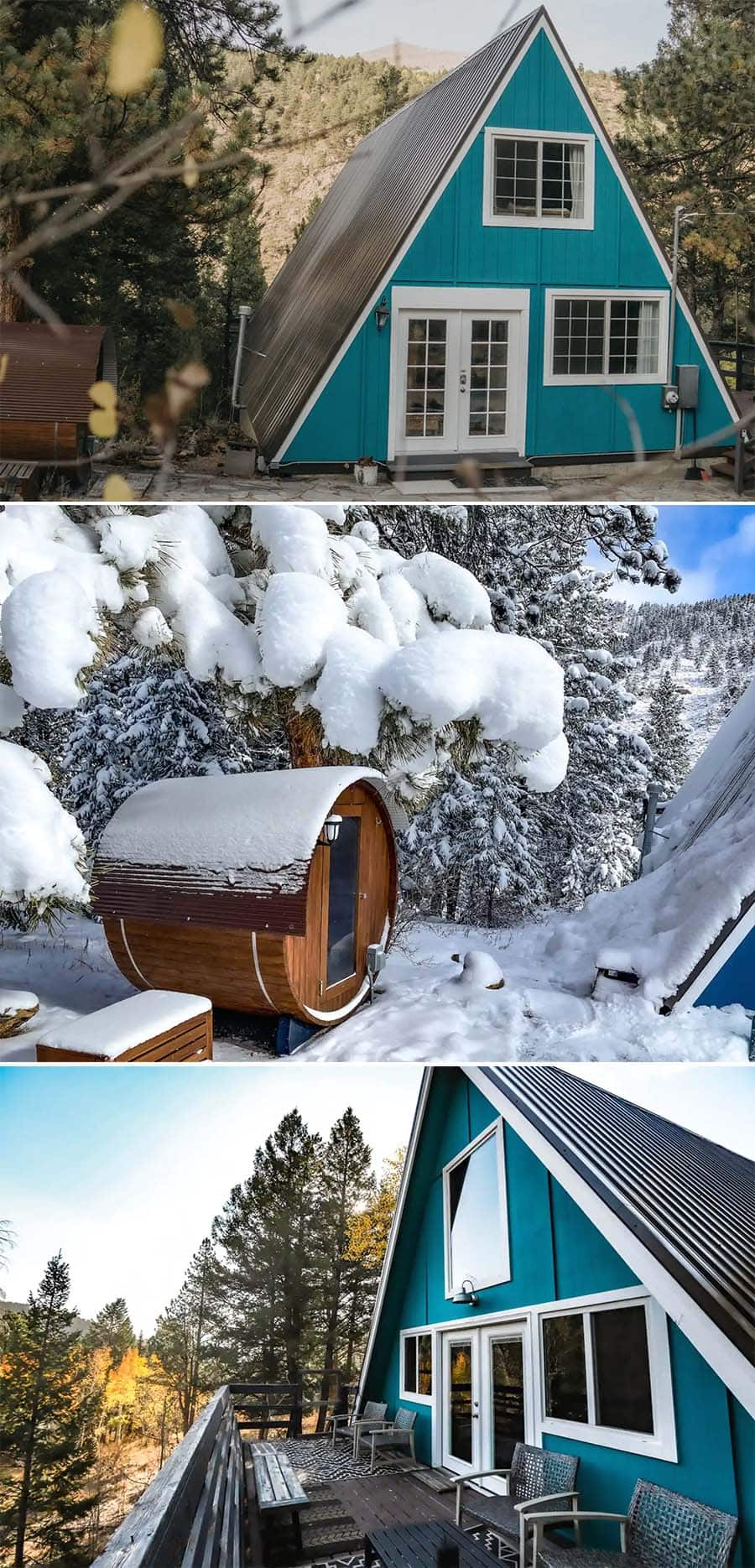The Hygge Chalet Airbnb cabin in Grant, Colorado