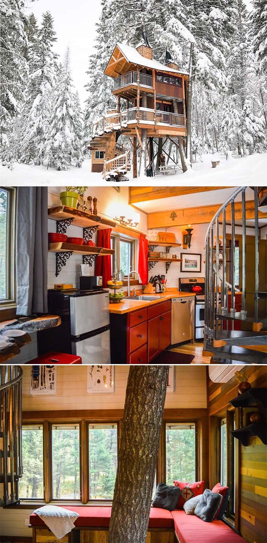 Meadowlark treehouse cabin airbnb