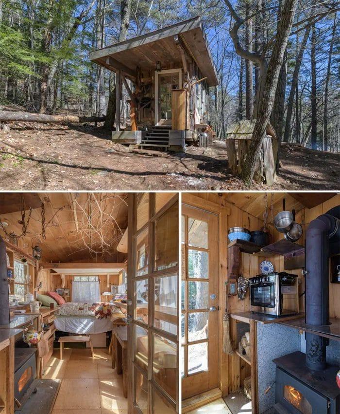 Tiny Earth Cabin New Hampshire