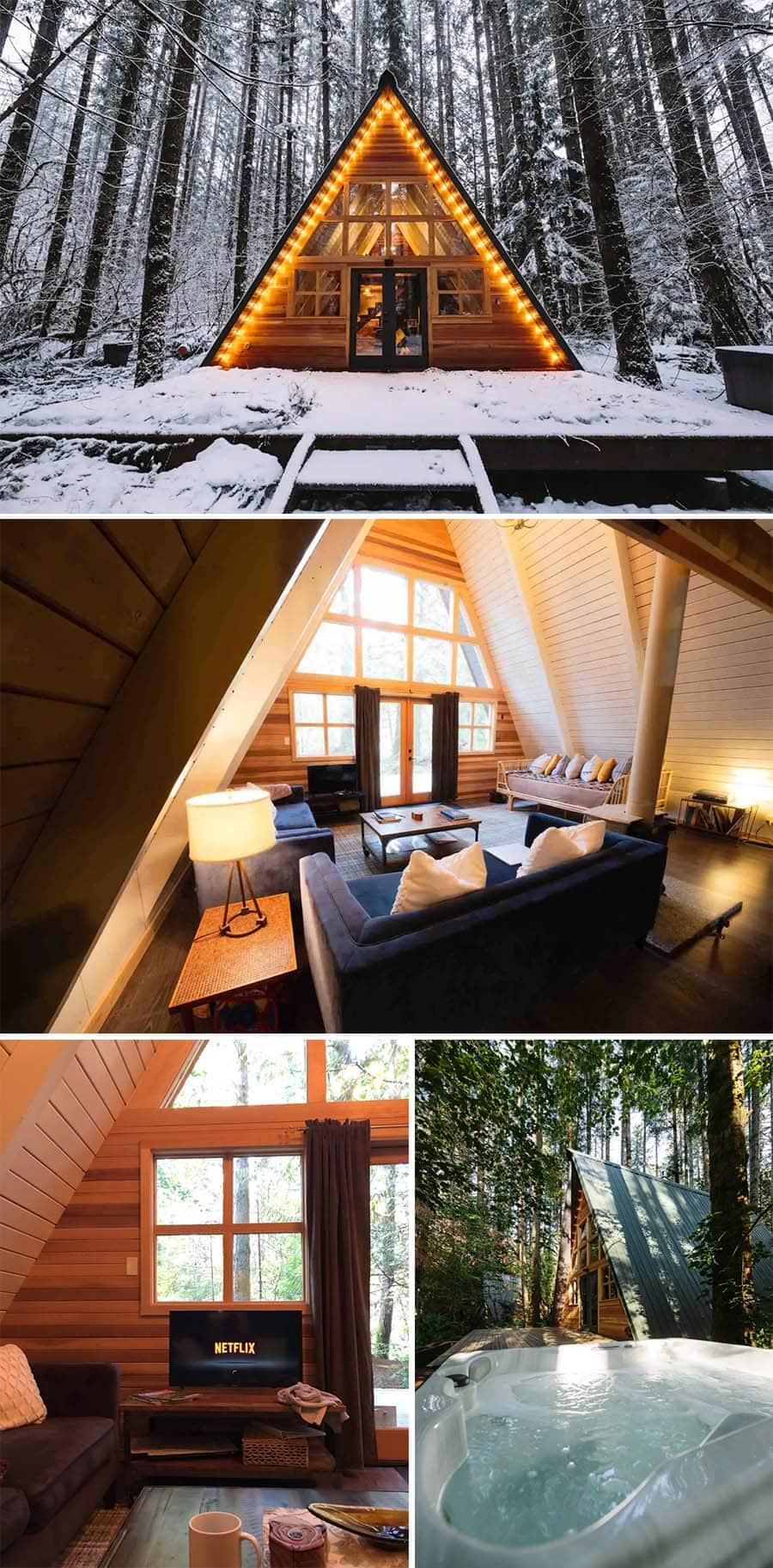 Tye-Haus A-Frame cabin Airbnbs in Skykomish, Washington