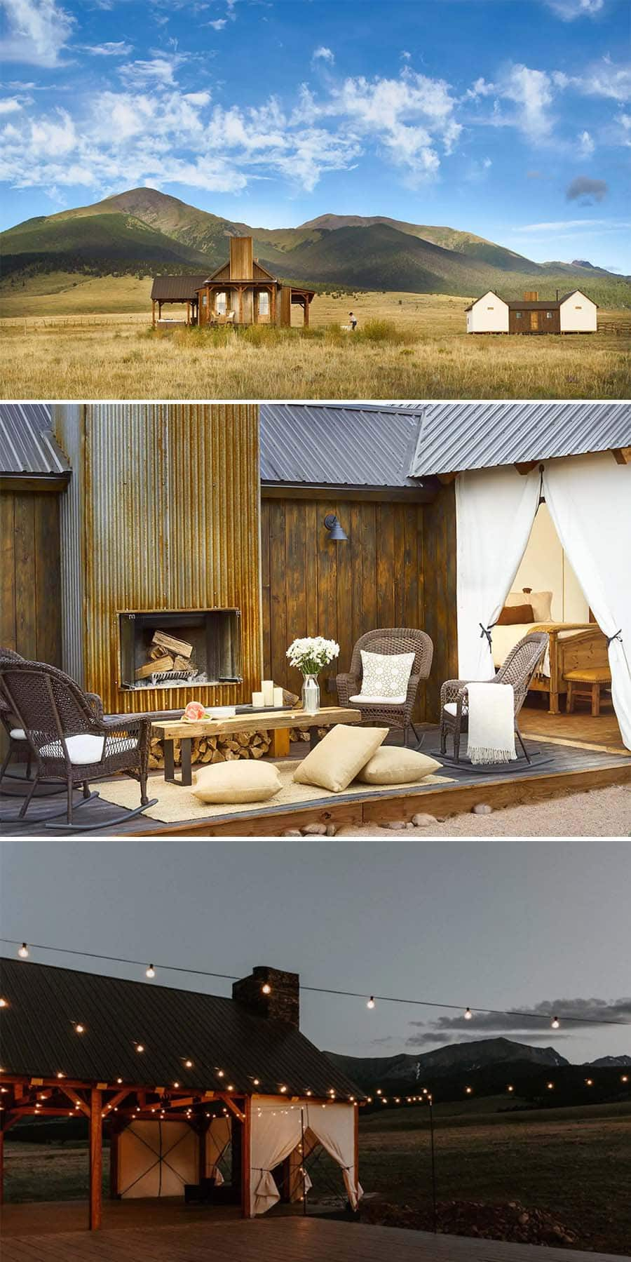 Modern farmhouse cabin Airbnbs in Westcliffe, Colorado at the base of the mountains