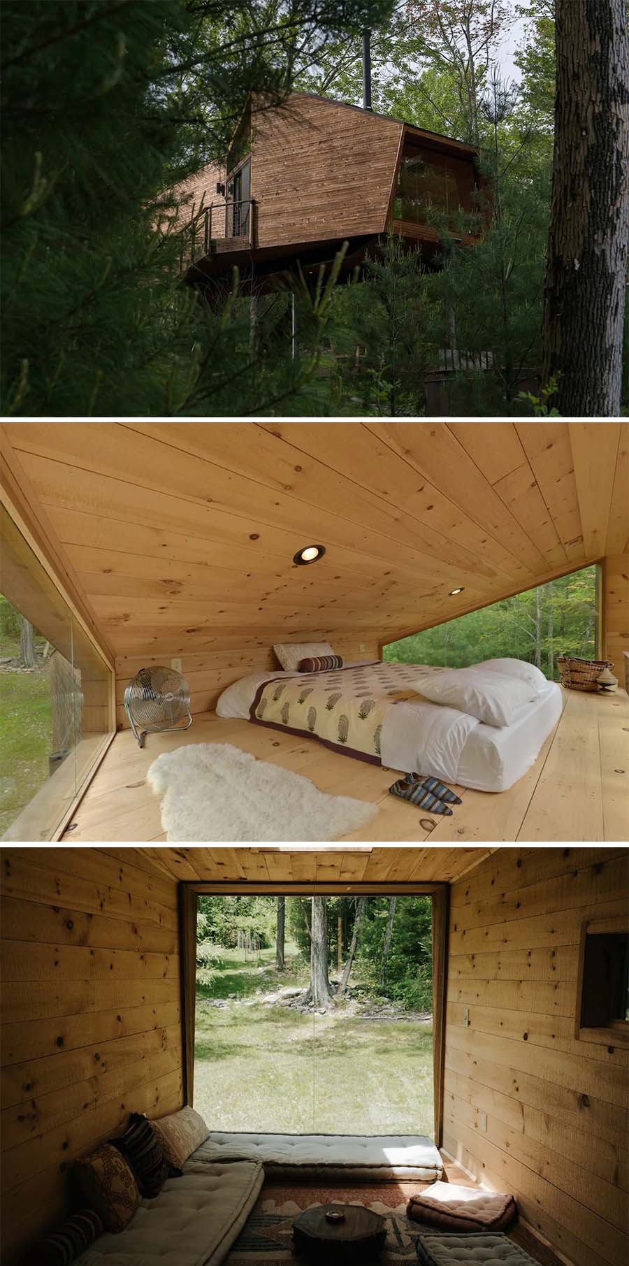 Futuristic cabin Airbnb in the woods - Willow Treehouse